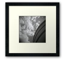 clouds and concrete Framed Print