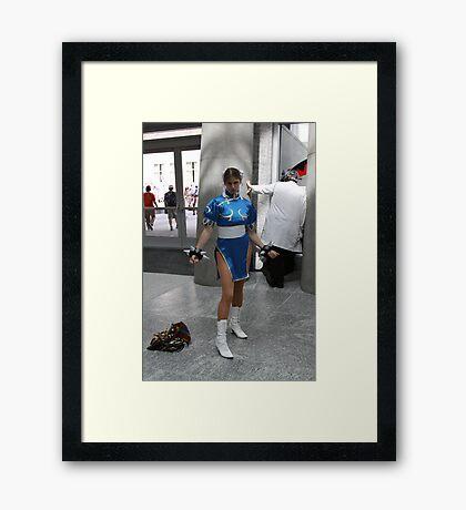 Chun Li means Business Framed Print