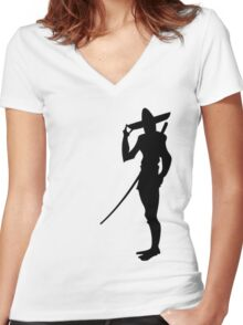 Village Fisherman Women's Fitted V-Neck T-Shirt
