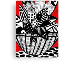 Fish in The Basket Canvas Print