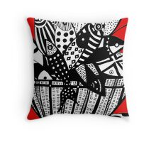 Fish in The Basket Throw Pillow