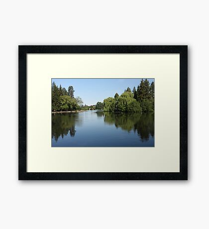 Mirror Pond Framed Print