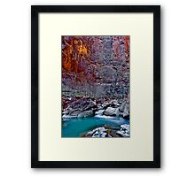 Zions Icy Virgin River Framed Print
