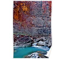 Zions Icy Virgin River Poster