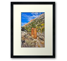 Photographers Comfort Station Framed Print