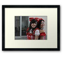 Two Kawaii Ladies Framed Print