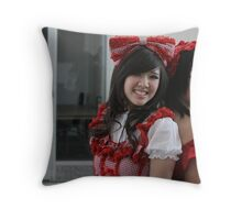 Two Kawaii Ladies Throw Pillow