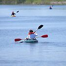 Kayaks on Lake Wingra by AuntieJ