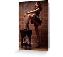 Elle Tyler Corset & Cuffs Greeting Card