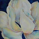 Magnolia Blue - oil on canvas, 30 x 30 cm by Deborah Green