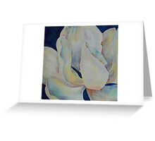 Magnolia Blue - oil on canvas, 30 x 30 cm Greeting Card