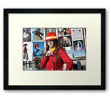 I found Carmen Sandiego Close-up Framed Print