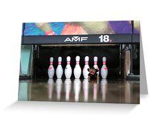 RnR Bowling w Zac ... strike or spare? again! Greeting Card