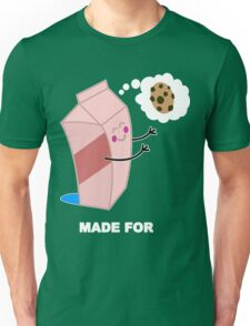 Couple cute milk and cookies Funny Geek Nerd Unisex T-Shirt