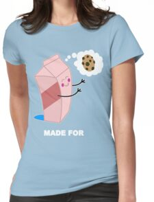 Couple cute milk and cookies Funny Geek Nerd Womens Fitted T-Shirt