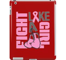 Fight like a girl Funny Geek Nerd iPad Case/Skin