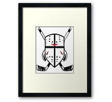 Hockey Crest  Framed Print