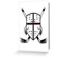 Hockey Crest  Greeting Card