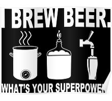 I brew beer what's your superpower Funny Geek Nerd Poster