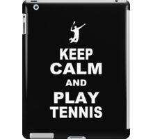 Keep calm snd play tennis Funny Geek Nerd iPad Case/Skin