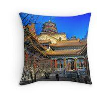 Beijing in Winter Throw Pillow