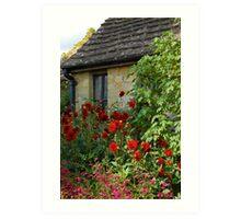 English Cottage Garden Art Print