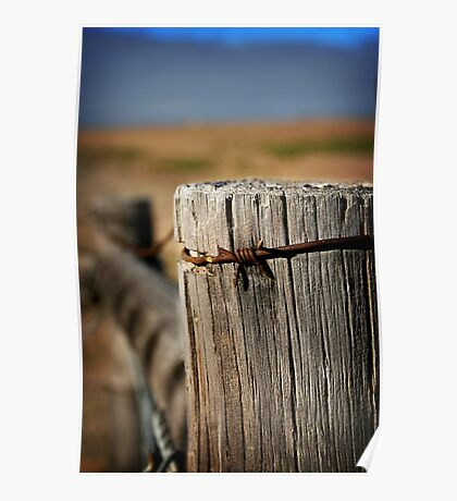 Lonely Fencepost Poster