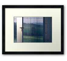 wire house landscape Framed Print
