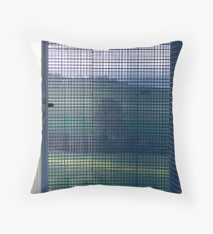 wire house landscape Throw Pillow