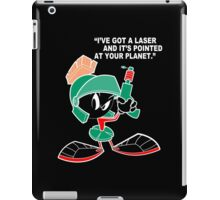 Marvin with laser pointed up Funny Geek Nerd iPad Case/Skin