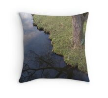 tree lake yorkshire sculpture park Throw Pillow
