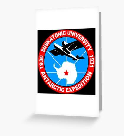 Miskatonic university antarctic expedition Funny Geek Nerd Greeting Card