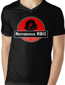 Notorious rbg Funny Geek Nerd Mens V-Neck T-Shirt