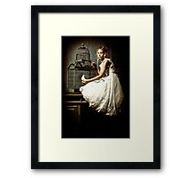 WHITE DOVE Framed Print