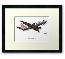 Rendition - Air Malawi B737 Framed Print