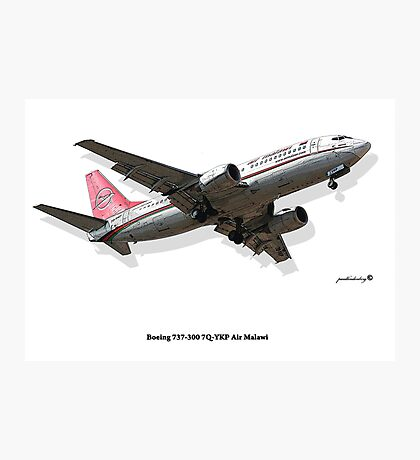 Rendition - Air Malawi B737 Photographic Print