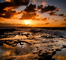 Shelly Beach Sunrise by Jason Hilsdon
