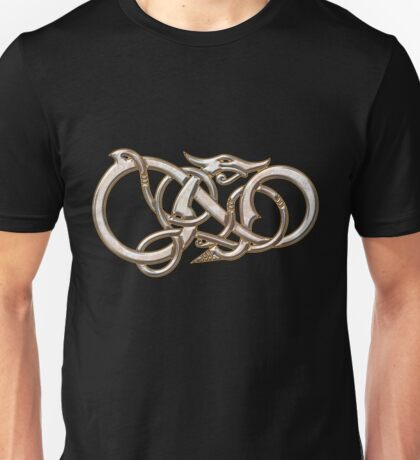Viking Dragon in metal Unisex T-Shirt