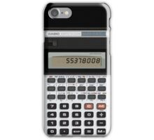Awesome Fake CASIO Vintage calculator iPhone Case/Skin