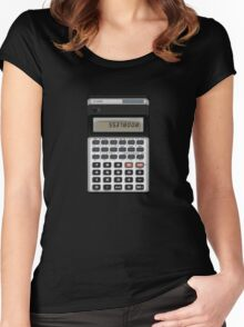 Awesome Fake CASIO Vintage calculator Women's Fitted Scoop T-Shirt