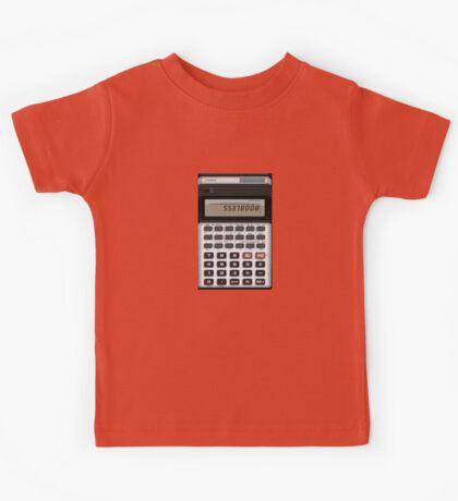 Awesome Fake CASIO Vintage calculator Kids Tee