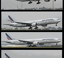 Rendition - Air France 777 - Landing Sequence by Paul Lindenberg