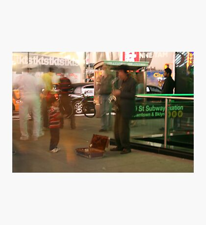 New York Busker Photographic Print