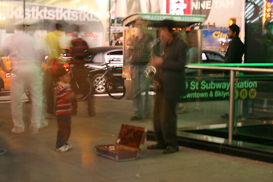 New York Busker by Abi Skeates