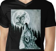 The Wolf and The Bat Mens V-Neck T-Shirt