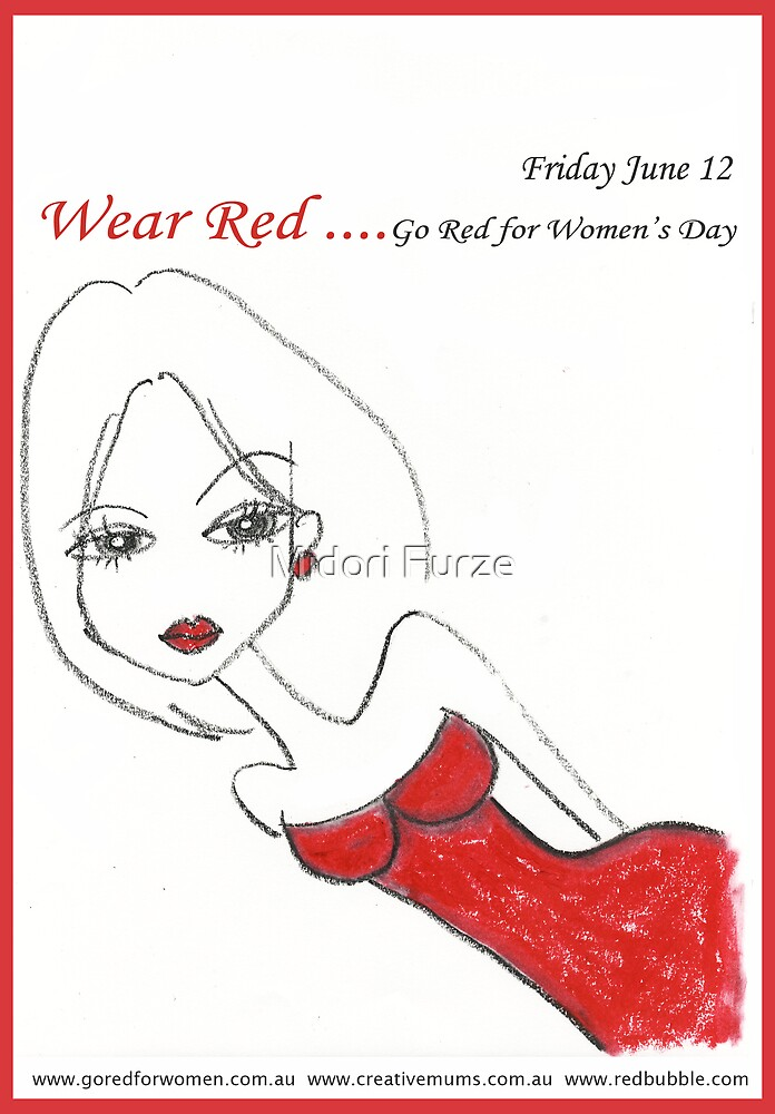 Go Red for Women's Day by Midori Furze