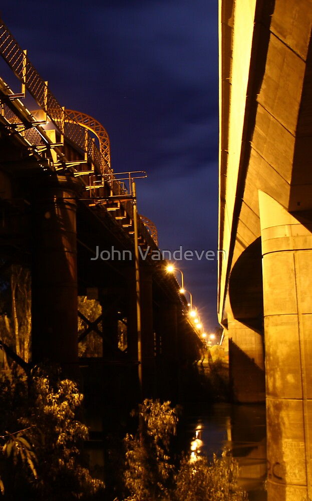 Echuca at night 4 by John Vandeven