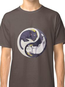 Luna and Artemis Yin Yang - Sailor Moon Classic T-Shirt
