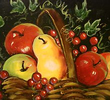 Basket of Fruit by Cathy Amendola
