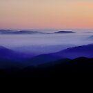 Sunrise from Bogong High Plains, Alpine NP, Victoria, Australia. by Ern Mainka